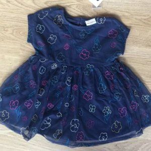 Girl's Hanna Andersson Floral Blue Formal Dress 3T